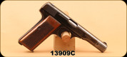 "Consign - Fabrique Nationale - 7.65mm - 1922 - Wood grips/bl, 4.5"", S/N 13909C - Prohib"