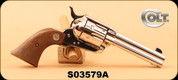 "Consign - Colt - 44-40 - Single Action Army - Revolver - Wood Grips/Nickel Finish, 4.75"" - In original box"