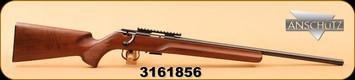"Consign - Anschutz - 17HMR - 1517 D HB - Classic Beavertail, Wd/Bl, 23"", c/w Picatinny Rail A54"