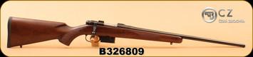 "CZ - 223Rem - 527 American - American-style Turkish Walnut/Bl, 22"", single set trigger, No Sights, Integrated 16mm Scope Bases"
