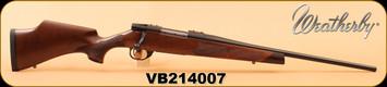 "Weatherby - 6.5Creedmoor - Vanguard Camilla - Walnut Fleur De Lis Checkering/Matte Blued, 20"", High Comb Cheek Piece, S/N VB214007"