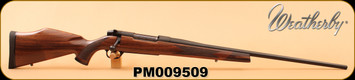 """Weatherby - 257WbyMag - Mark V Sporter - Raised Comb Monte Carlo Semi-Gloss Claro Walnut Stock/Fineline Diamond Point Checkering w/Rosewood Forend/Bead Blasted Matte Blued, 26"""", Factory Tuned Full Adjustable Trigger, S/N PM009509"""