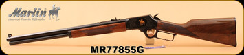 """Marlin - 45Colt - 1894CB45 - Limited Edition - American black walnut stock with straight grip/Engraved receiver/Highly polished bluing, 20"""" Octagon barrel, S/N MR77855G"""