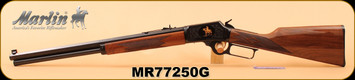 """Marlin - 45Colt - 1894CB45 - Limited Edition - American black walnut stock with straight grip/Engraved receiver/Highly polished bluing, 20"""" Octagon barrel, S/N MR77250G"""