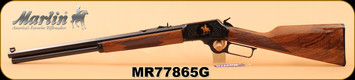 """Marlin - 45Colt - 1894CB45 - Limited Edition - American black walnut stock with straight grip/Engraved receiver/Highly polished bluing, 20"""" Octagon barrel, S/N MR77865G"""