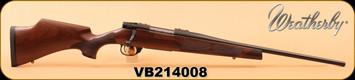 "Weatherby - 6.5Creedmoor - Vanguard Camilla - Walnut Fleur De Lis Checkering/Matte Blued, 20"", High Comb Cheek Piece, S/N VB214008"
