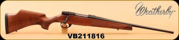 "Weatherby - 308Win - Vanguard Camilla - Walnut Fleur De Lis Checkering/Matte Blued, 20"", High Comb Cheek Piece, S/N VB211816"