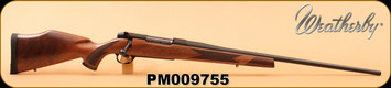"""Weatherby - 300WbyMag - Mark V Sporter - Raised Comb Monte Carlo Semi-Gloss Claro Walnut Stock/Fineline Diamond Point Checkering w/Rosewood Forend/Bead Blasted Matte Blued, 26"""", Factory Tuned Full Adjustable Trigger, S/N PM009755"""