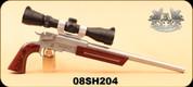 "Consign - Freedom Arms - 223Rem - Model 2008 - Single Shot Handgun - Wd/SS, 15"", c/w Leupold VX-3 2.5-8x32, Duplex - In original box"