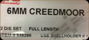 Hornady - Full Length Dies - 6mm Creedmoor - 546295
