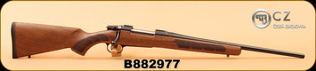 """CZ - 6.5x55Swedish - 557 Sporter - Turkish Walnut, American Style Stock with Oil Finish/Blued Finish, 20.5"""" Cold Hammer Forged Barrel, Fully Adjustable trigger, S/N B882977"""