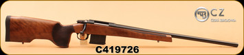 "CZ - 308Win - 557 Varmint - Walnut stock/Blued, 26.5"" cold hammer forged heavy barrel, adjustable trigger, S/N C419726"