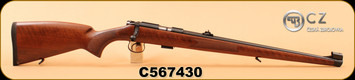 "CZ - 22LR - 455 FS - Walnut Full Mannlicher Stock/Blued, 20.5"", 5rd, S/N C567430"