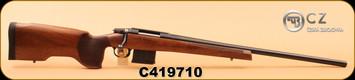 "CZ - 308Win - 557 Varmint - Walnut stock/Blued, 26.5"" cold hammer forged heavy barrel, adjustable trigger, S/N C419710"