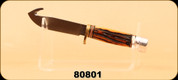 "Consign - Marbles Outdoors - Gut Hook-Jigged Bone - Antler Handle/1095 High Carbon forged steel, 4.25"" Blade, 8.75"" Overall Length, Full Tang, c/w Leather sheath"