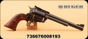 "Ruger - 44RemMag - Super Blackhawk - Single Action - Rosewood Grips/Blue/Turnbull Color Case Hardened, 7.5"" MFG#00819"