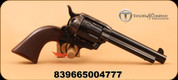 """Taylor's & Co - 45LC - Smoke Wagon - stagecoach-style, single-action revolver - checkered grip/case hardened frame/Blued 5.5"""" barrel, Item# REV4110"""