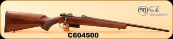"CZ - 22Hornet - 527 American - Turkish Walnut American-Style Stock/Cold Hammer Forged, Blued 21.875"" Barrel, Single Set Trigger, S/N C604500"