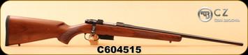 "CZ - 22Hornet - 527 American - Turkish Walnut American-Style Stock/Cold Hammer Forged, Blued 21.875"" Barrel, Single Set Trigger, S/N C604515"