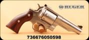 "Ruger - 357Mag - Redhawk - Double Action revolver - Hardwood Grips/Satin Stainless, 4.2"" Barrel, MFG# 5059"