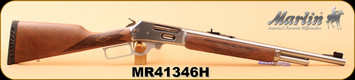 """Marlin - 45-70Govt - Model 1895GS - Lever Action Carbine - Walnut Stock/Stainless Steel Finish, 18.5"""", 4 Rounds, Open Sights, Order# 70464 S/N MR41346H"""