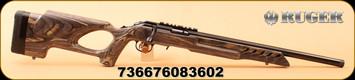 "Ruger - 22LR - American Rimfire Target - Black Laminate Thumbhole Stock/Satin Blued, 18""Barrel, MFG# 8360"