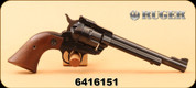 """Consign - Ruger - 22LR/22WMR - New Model Single-Six - Wood Grips/Blued, 6.5"""" Barrel, c/w hard case and custom leather holster"""