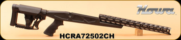 Howa - HCR Rifle Chassis Only - Black, 6061-T6 aluminum chassis made by Accurate-Mag w/ free-float M-LOK forend, Hogue Pistol Grip