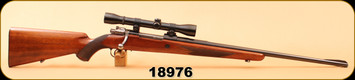 "Consign - FN Mauser - 220Swift - Sporter Deluxe - Wd/Bl, 24"", c/w Weaver K4 60-B, Crosshairs Reticle"