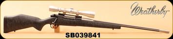 "Consign - Weatherby - 300WbyMag - MKV Accumark - Matte Black w/spiderweb accents HS Precision Stock/SS, Fluted, 26"" Barrel, c/w Leupold VX-II 3-9x40, Duplex"