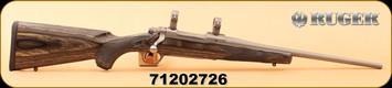 """Used - Ruger - 223Rem - M77 Hawkeye Compact - Black Lam/Stainless Steel, 16.5"""" Cold Hammer Forged Barrel, LC6 Trigger, MFG# 17107, c/w 1"""" rings"""