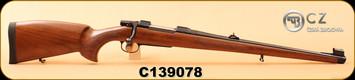 "CZ - 6.5x55Swedish - Model 550 FS - Bavarian-style Mannlicher Turkish Walnut/Blued, 20.5"" Barrel, 5rd fixed magazine, 1:8.7"", S/N C139078"