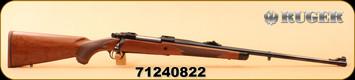 "Ruger - 6.5x55Swedish - M77 Hawkeye African - Lipseys Exclusive - American Walnut/Satin Blued, 24"", LC6 Trigger, MFG# 47186, S/N 71240822"