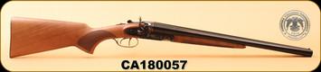 """Huglu - 201HRZ - 12Ga/3""""/20"""" - Wd/Case Hardened/Blued - M.Choke, S/N CA180057"""