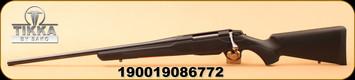 "Tikka - 6.5Creedmoor - T3X Lite - Left Hand - Black Modular Synthetic/Blued Steel, 22.4"", no sights"