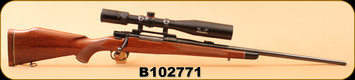 "Consign - Interarms - 243Win - Mark X - Walnut/Blued, 24"", Checkered Sporter Stock w/rosewood caps, c/w Simmons Predator Quest 4.5-18x40, Truplex reticle"