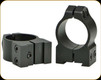 Warne - Maxima Fixed Mount - Steel Rings - Fits CZ 527 - 30mm -  Medium - Matte Black - 14B1M