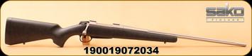 "Sako - 6.5Creedmoor - A7 Roughtech Pro - Black w/Grey Web Composite/SS, Fluted, 24.4"" Barrel"