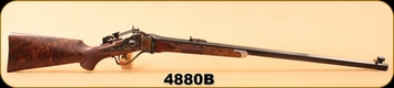 "Consign - Shiloh-Sharps - 45/90 - Model 1874 Sporter #1 - Wd/Case Color Receiver/Bl, 30"" Heavy Octagon Barrel, Traditional Steel Buttplate - New, Unfired"