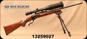 "Consign - Ruger - 300WM - No.1 B - Single-Shot Centerfire Rifle - Walnut Stock/Blued, 26""Barrel, c/w Bausch & Lomb 4-16x50mm Scope, Duplex Reticle, Leupold Rings, Harris Bi-+Pod"