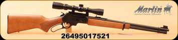 "Marlin - 30-30Win - 336W Lever Action Rifle - Walnut-finished laminate stock w/cut checkering/Matte Blued, 20"" Barrel, 6 Rounds, 3-9x32mm Mounted Scope, MFG# 70521"