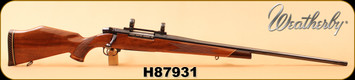 """Consign - Weatherby - 378Mag - Mark V Deluxe - AAA Claro Oiled Walnut/Blued, 26""""Barrel, made in Japan, magna ported, c/w 1"""" Rings"""