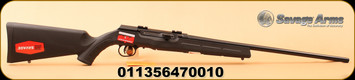 "Savage - 17HMR - A17 - Semi-Auto - Black Synthetic/High Lustre Black, 22""Barrel, AccuTrigger, MFG# 47001"