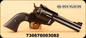 "Ruger - 357Mag/9mm - New Model Blackhawk Convertible - Single Action - Black Checkered Hard Rubber Grips/Blued Finish, 4.62""Barrel"
