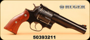 """Ruger - 44Mag - Redhawk - Lew Horton Exclusive - Double Action - Rosewood Grips/Blued, 5.5""""Barrel, Mfg# 5014 - Display Model"""
