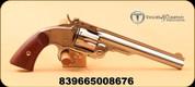 "Taylor's & Co - Uberti - 45LC - Top Break Schofield Revolver - Walnut Grips/Nickel Finish, 7"" Barrel, 6 Shot"
