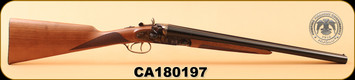 "Huglu - 12Ga/3""/20"" - 201HRZ - Turkish Walnut/Blued barrel/Case Hardened, HRZ Hammer, English Stock, S/N CA180197"