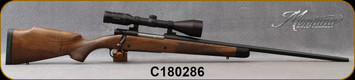 """Used - Montana Rifle Company - 270Win - American Legends Rifle (ALR) - AA Grade American Black Walnut/Chromoly blued steel, 24"""", #2 Contour Barrel, c/w Kahles, 3.5-10x50mm, Reticle similar to Leupold boone&crockett - Only 50rds fired - In orig box"""