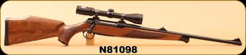 "Consign - Sauer - 6.5x55 - Model 202 - Wd/Bl, 22.3""Barrel, c/w Leupold quick release rings, Bushnell Elite 3200 3-10x40, Duplex, quick release sling - in black hard case"