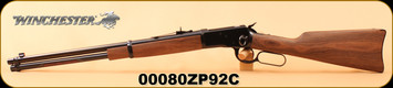 """Winchester - 357Mag - Model 1892 Carbine - Black Walnut straight grip stock/Brushed Polished Blued, 20""""Barrel, classic carbine-style forearm, S/N 00080ZP92C"""
